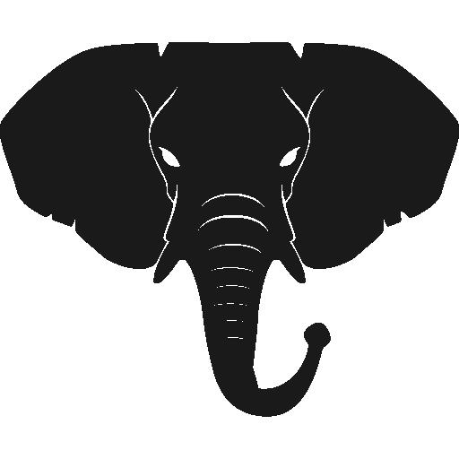 Elephant side profile silhouette
